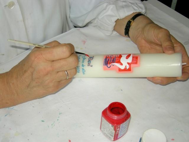 Cierges décores à main